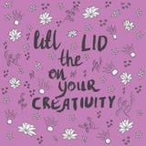 Поднимите крышку на ваших творческих способностях с цветками doodle иллюстрация штока