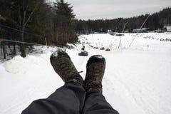 поднимите пробки снежка Стоковое Изображение