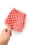 поднос быстро-приготовленное питания бумажный Стоковая Фотография