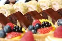 поднос десерта ассортимента Стоковое Изображение RF
