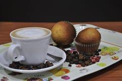 Поднос для завтрака или закуски стоковое изображение