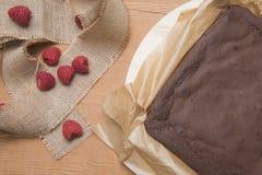Поднос пирожного шоколада печет стоковое фото