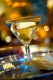 поднос серебра сервировки martini Стоковая Фотография