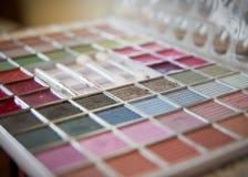 поднос состава eyeshadows colorfull Стоковая Фотография
