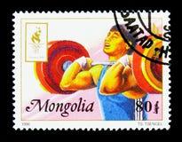 Поднятие тяжестей, Олимпиады лета 1996, serie Атланты, около 1996 стоковое изображение rf