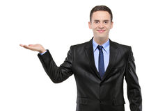 поднятый рукой костюм права портрета человека Стоковое Фото