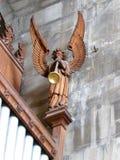 Подогнали Анджел в интерьере часовни церков marys Святого в warwick в Англии Стоковые Изображения