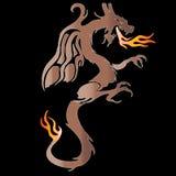 подогнали дракон, котор Стоковое фото RF