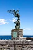 Подогнали статуя Найк стоковые фотографии rf