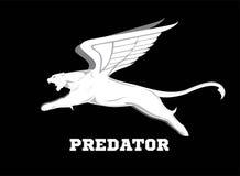 Подогнали хищник белая пума с крылом кугуар летания бесплатная иллюстрация