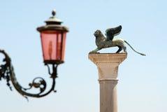 подогнали venetian льва, котор Стоковые Изображения