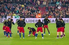 Подогрев игроков FC Барселона Стоковое фото RF