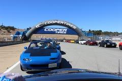 Подол парада, путь гонки Mazda Laguna Sega, Калифорния Стоковое Фото