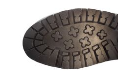 Подошва ботинка изолированная на белизне Стоковые Фото