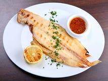 подошва зажженная рыбами Стоковые Фотографии RF