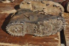 Подошва старого ботинка Стоковые Изображения RF