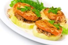 Подпертая vegetable сердцевина заполненная с мясом Стоковые Фотографии RF