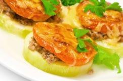Подпертая vegetable сердцевина заполненная с мясом Стоковое Изображение