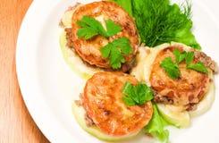 Подпертая vegetable сердцевина заполненная с мясом Стоковые Изображения RF