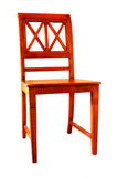 подпертый стул прямо деревянный Стоковое Изображение