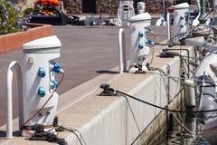 Подпирайте основанное на электропитание и батарею прибора электроснабжения порученные на доке Стоковое Изображение RF