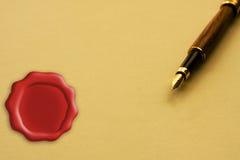 подписание согласования законное Стоковое Изображение