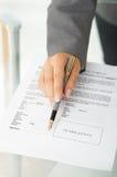 подписание согласования Стоковая Фотография RF