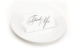 подписанная плита карточки благодарит вас Стоковая Фотография RF