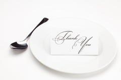 подписанная плита карточки благодарит вас Стоковые Фото