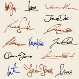 подписи Стоковые Изображения RF
