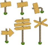 подписывает деревянное Стоковое Изображение RF