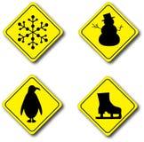 подписывает зиму Стоковые Изображения RF