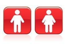 подписывает туалет иллюстрация вектора