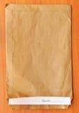 подпись листа конвертной бумага Стоковые Фотографии RF