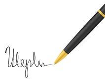 подпись пер ballpoint бесплатная иллюстрация