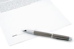 подпись подряда готовая Стоковые Фотографии RF