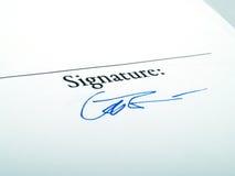 подпись стоковое изображение