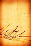 подпись Стоковые Изображения RF
