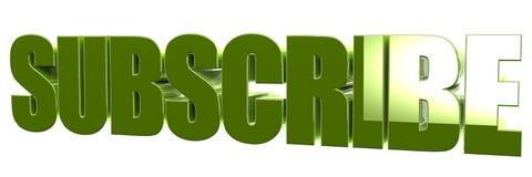 Подпишитесь к тексту 3d Стоковое Изображение RF