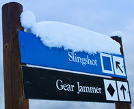 подпишите лыжу Стоковые Фото