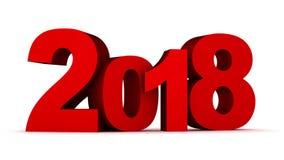 Подпишите Новый Год 2018 на белых предпосылке и канале альфы сток-видео