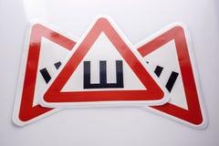 Подпишите ` шипов ` для кораблей с шипами на автошинах Стоковое Изображение
