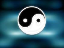 подпишите yin yang Стоковые Фотографии RF