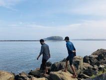 подпоры Керала Индия времен пляжа стоковая фотография rf