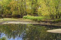 Подпоры осени, река рома стоковое изображение