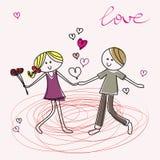 подростки влюбленности падения Стоковые Изображения RF