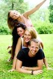 подростки группы девушок мальчиков Стоковое фото RF