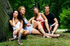 подростки группы девушок мальчиков Стоковое Изображение RF