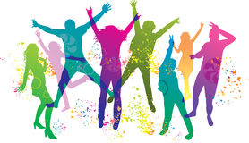 подростки людей партии танцы молодые Стоковая Фотография RF