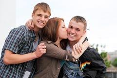 подростки портрета 3 детеныша Стоковое Фото